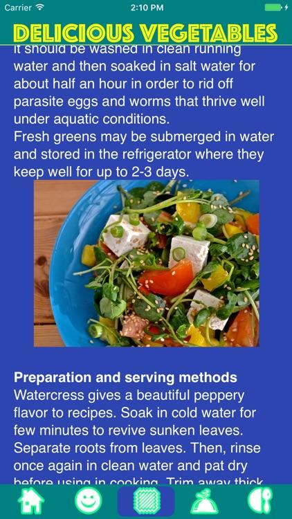 Delicious Vegetables - Serving tips & recipes. screenshot-3