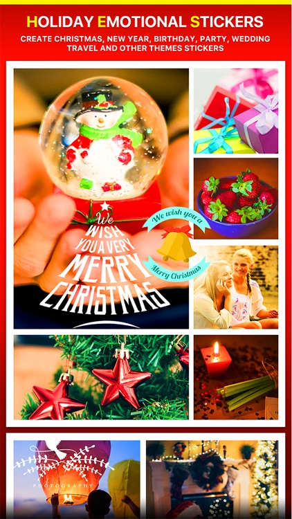 Merry Christmas Collage - Typography Captions screenshot-4