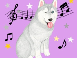 Get your Lovely Husky Dog Stickers