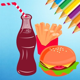 Food Coloring Book for kids - Drawing free game