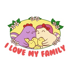 Love of Bunnies in Easter Sticker