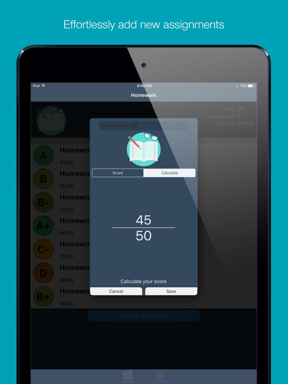 Grades - Grade Tracker and GPA Screenshots