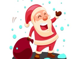 Colourful Christmas Santa Claus stickers just for you