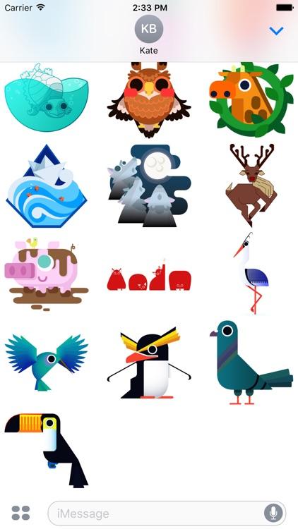 Geo Critters - Redbubble sticker pack screenshot-3