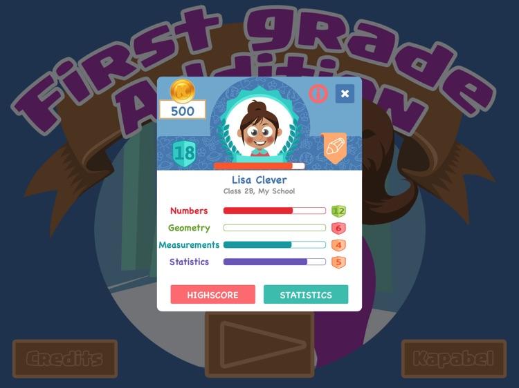 First Grade Math - Addition game screenshot-3