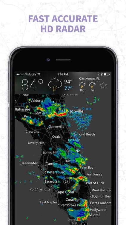 MyRadar NOAA Weather Radar, Forecasts & Storms screenshot-0