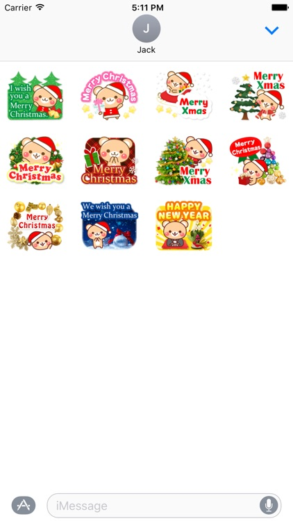 Merry ChristMas And Happy New Year Stickers Vol2