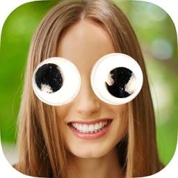 Googly eyes sticker - photo editor crazy eyes