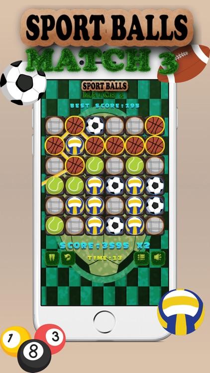 Sport Balls Match 3 screenshot-3