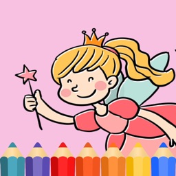 Princess & Fairy tale Coloring Book game for kids