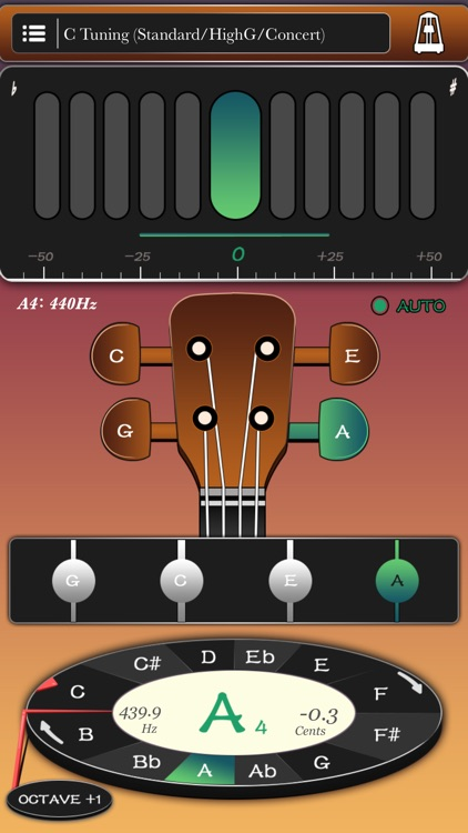 Ukulele tuner and metronome - best uke toolkit screenshot-0