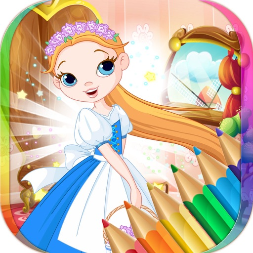 Princess Fairy Tale Coloring Book