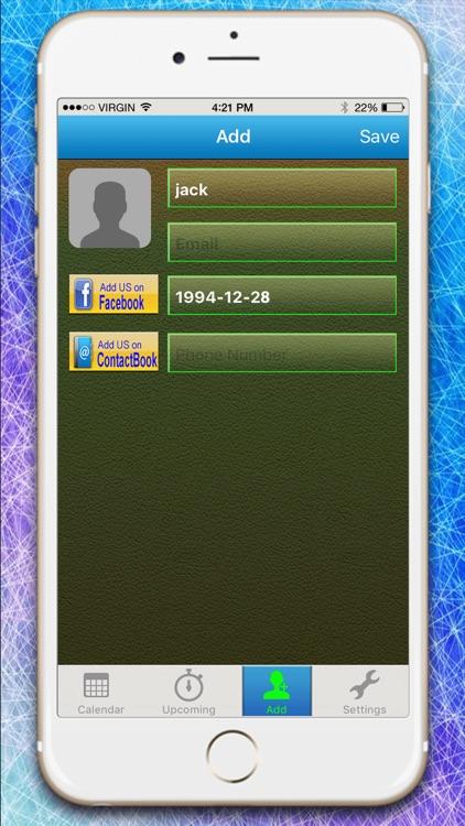 Birthday Calendar Reminder & Countdown screenshot-3