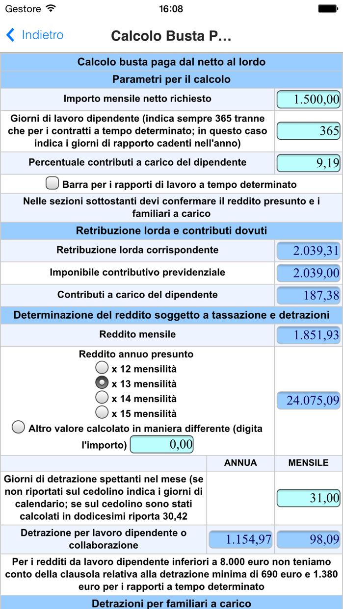 Busta Paga - Costo del Lavoro Screenshot
