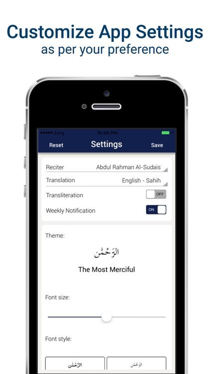 Surah Waqiah Mp3 - with Translation & Recitation screenshot-3
