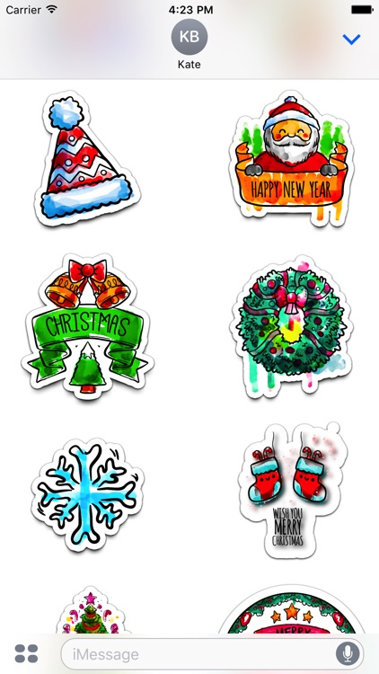 Watercolor Christmas Stickers Vol. 1