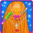 Penteados trançados Meninas Jogos icon