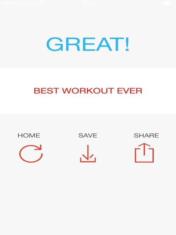 Quick workout - shape you up! screenshot 7