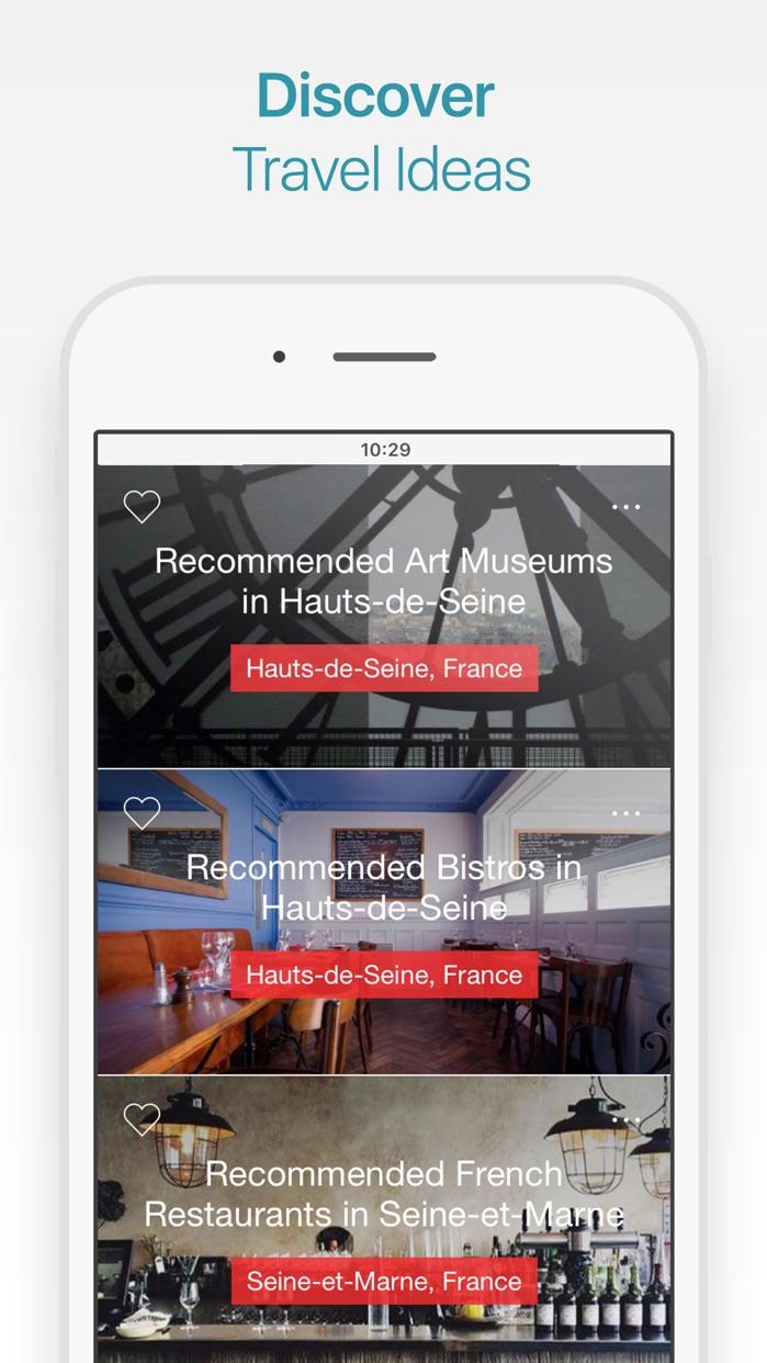 Paris Travel Guide and Offline City Map Screenshot