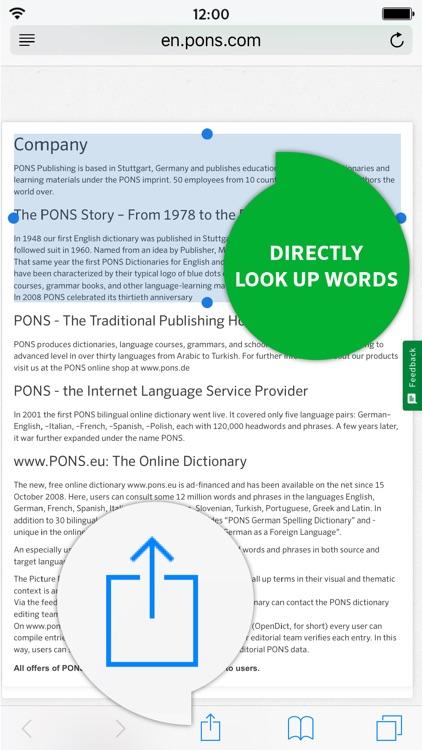 Dictionary German - English PREMIUM by PONS screenshot-3