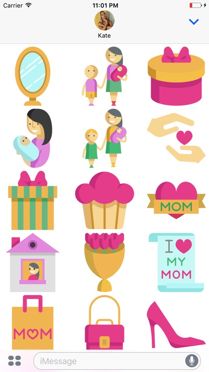 Mommoji - Mother's Day Stickers screenshot-3