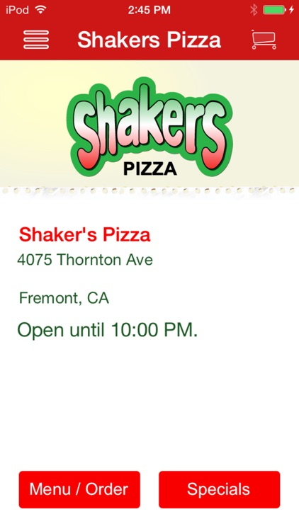 Shaker's Pizza screenshot-0