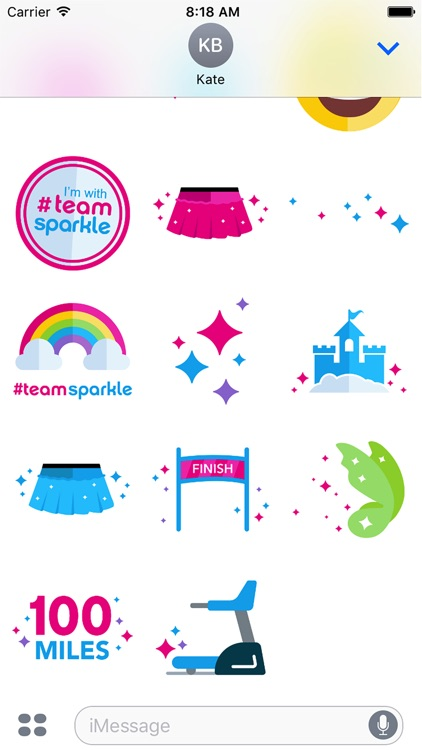 Sparkle Athletic Running Stickers screenshot-4