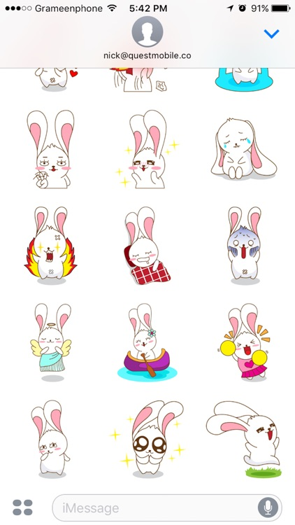Red The Rabbit - Sticker Pack For iMessage