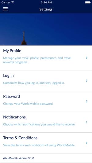 travel profile