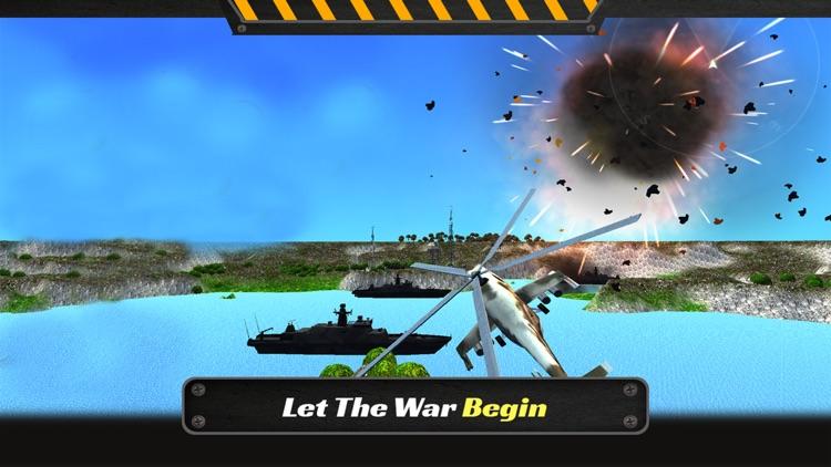 Gunship Helicopter Battle 2017: Air Fighter 3D screenshot-4