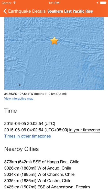 EarthQuakes - from USGS screenshot-3