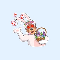 Easter Bear-bunny Stickers