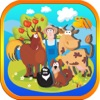 Farm Animals Puzzle Coloring