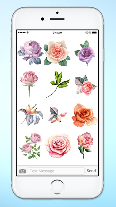 Send Roses Rose Stickers for iMessage