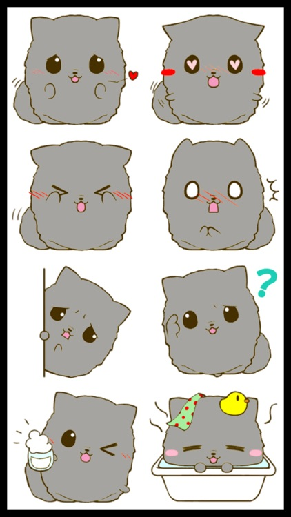 Fluffy Kitty 2 Stickers screenshot-0