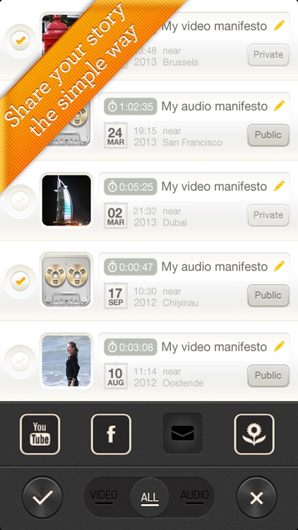 Manifesto - fast instant video & voice recorder screenshot-3