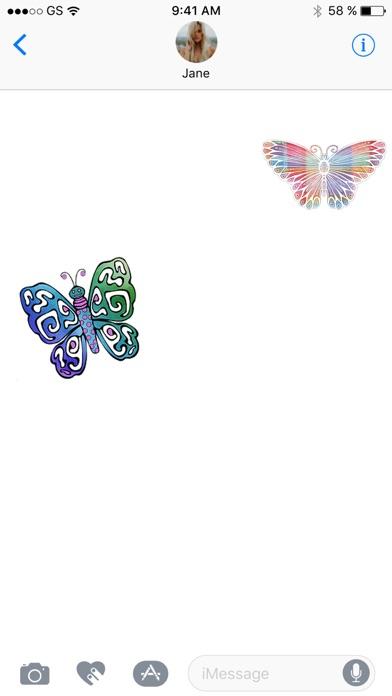 蝶スリーステッカーパックのスクリーンショット3