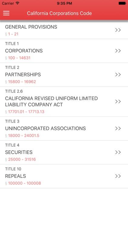 California Corporations Code