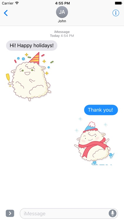 iMessage Sheep Stickers