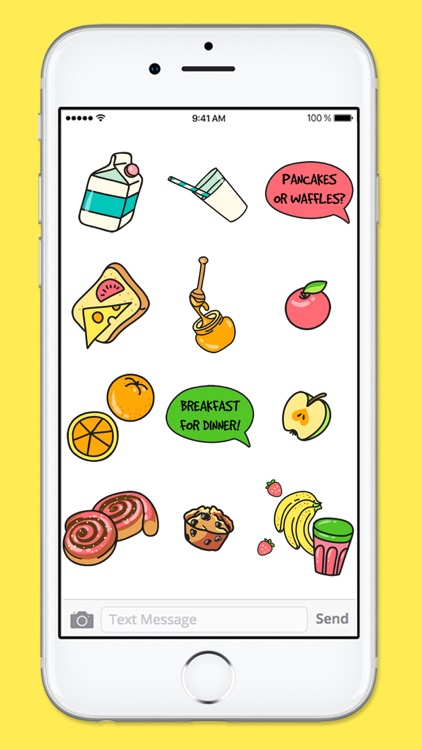 All Day Breakfast Menu Food Stickers screenshot-4