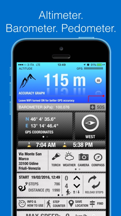 Altimeter GPS PRO - with Barometer, Maps, Compass screenshot-0