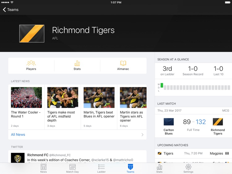 Footy Live for iPad