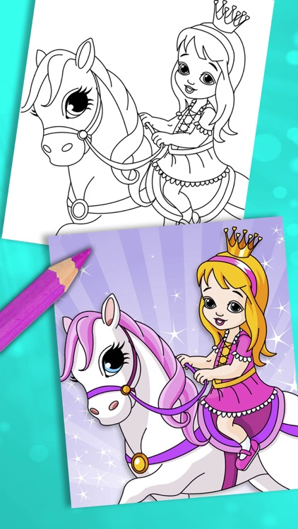 Princess coloring pages for kids – Pro