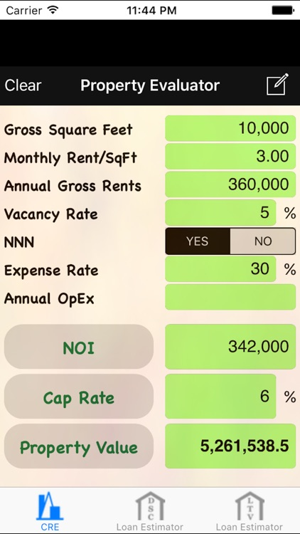 CRE: Commercial Real Estate Calculator