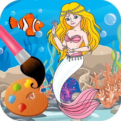 Sirena juegos de colorear gratis para nias App Revisin  Games