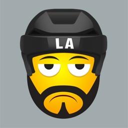 LA Hockey Stickers & Emojis