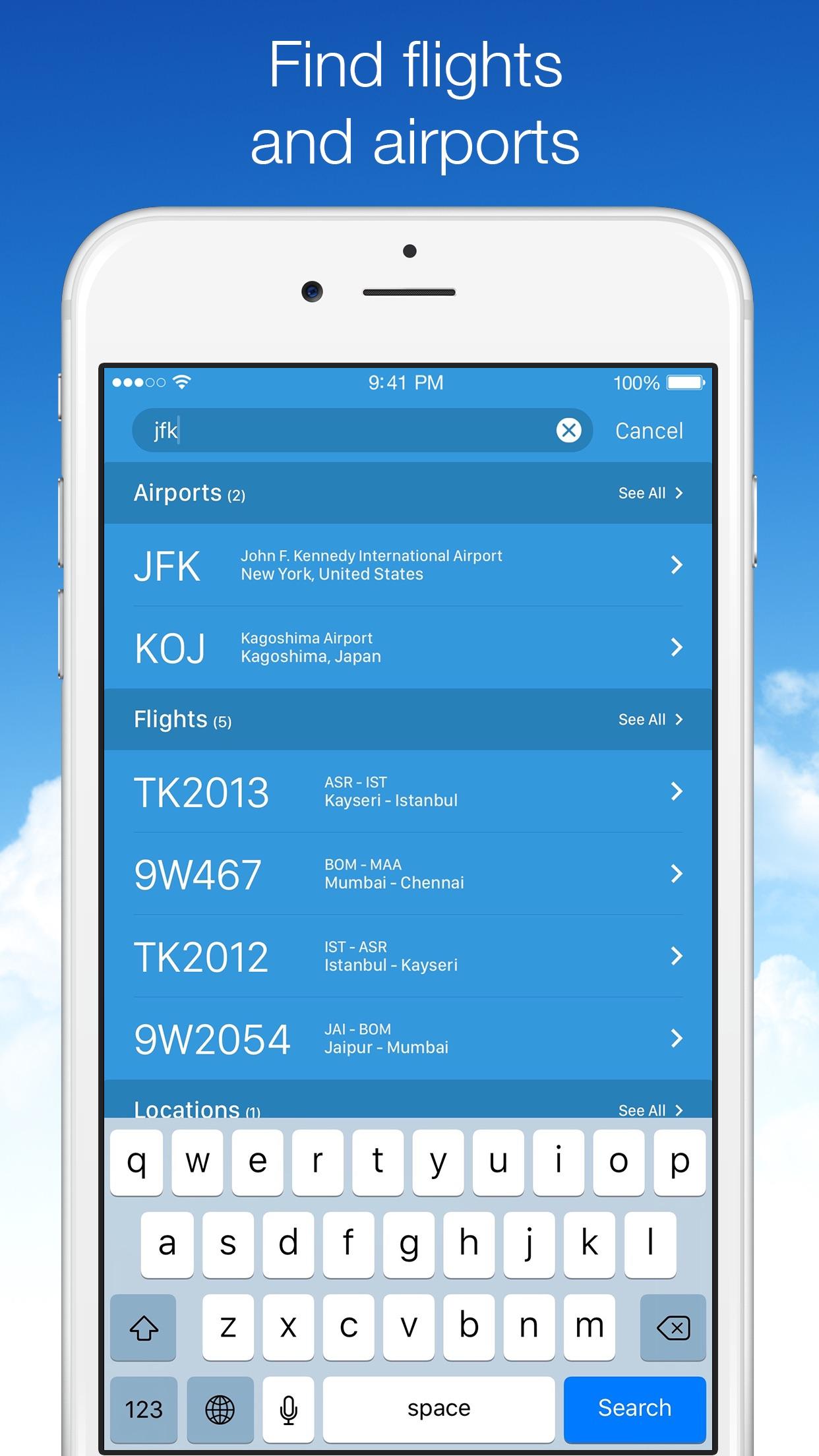 Planes Live - Flight Tracker Screenshot