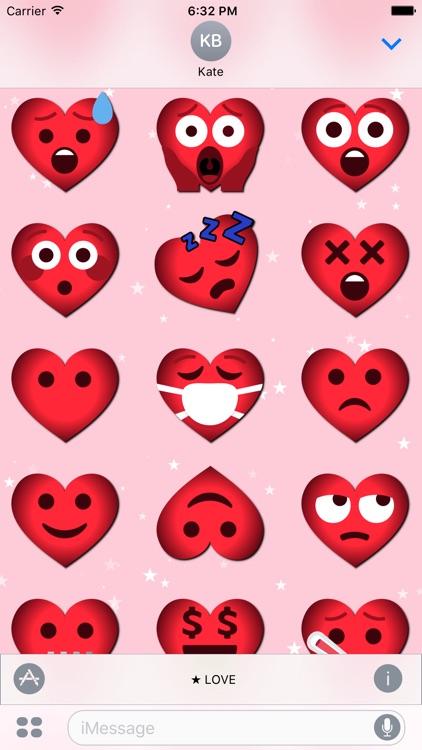 Love Emoji • 70 stickers for iMessage screenshot-4