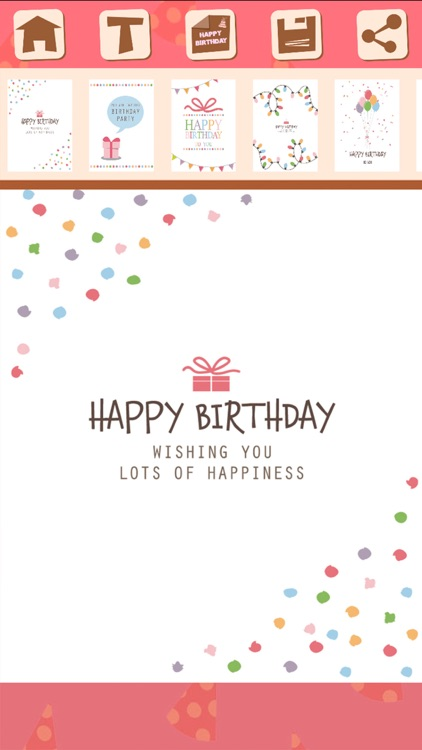Birthday greeting cards with stickers – Photo edit screenshot-4