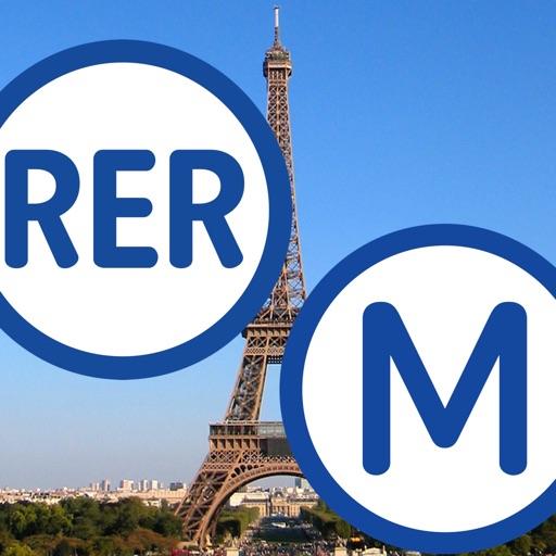 Métro RER de Paris - plan et tinéraire optimal